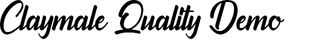Preview image for Claymale Quality Demo Font