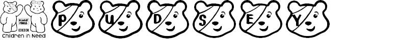 Preview image for PUDSEY BEAR Font