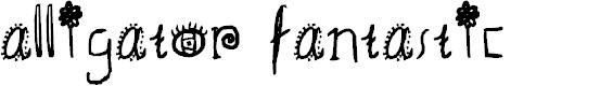 Preview image for alligator fantastic Font