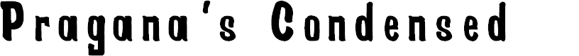 Preview image for Pragana's Condensed Font
