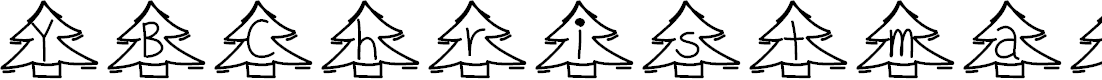 Preview image for YBChristmasAlphabet Font