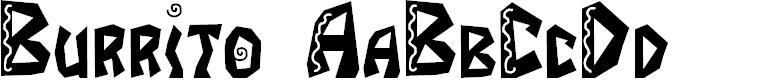 Preview image for JI Burrito Font