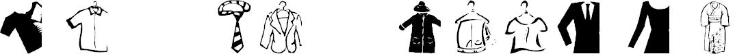 Preview image for AEZ clothes Font