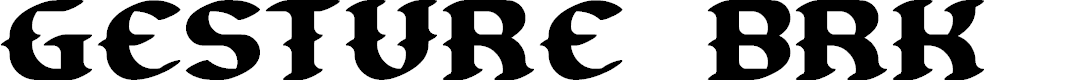 Preview image for Gesture BRK Font
