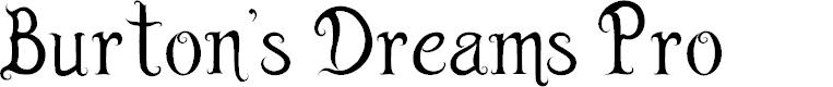 Preview image for Burton's Dreams Pro Font