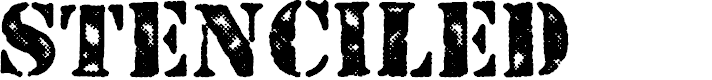 Preview image for STENCILED PERSONAL USE Regular Font