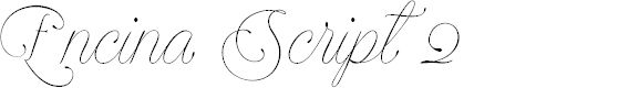 Preview image for Encina Script 2 PERSONAL USE Font