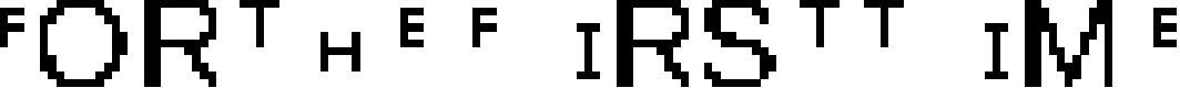 Preview image for FortheFIRSTtime Font
