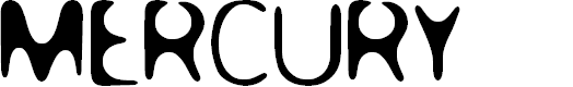 Preview image for MERCURY Font