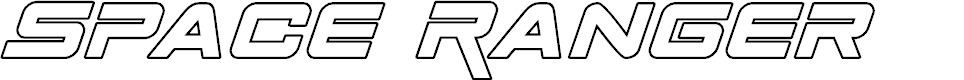 Preview image for Space Ranger Outline Italic
