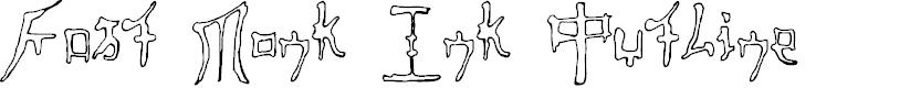 Preview image for Fast Monk Ink Outline Regular Font