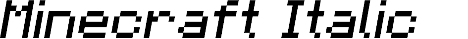Preview image for Minecraft Italic