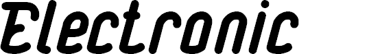 Preview image for Electronic Font