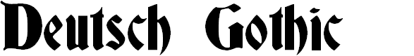 Preview image for Deutsch Gothic Font