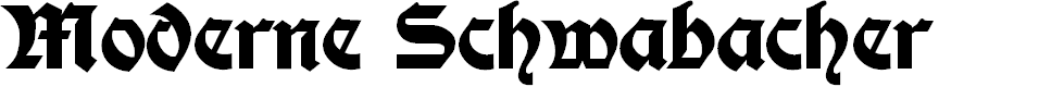 Preview image for Moderne Fette Schwabacher Font