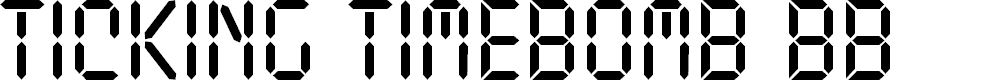 Preview image for Ticking Timebomb BB Font