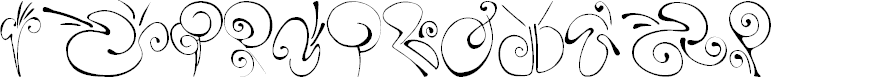Preview image for SLSquiggles Font