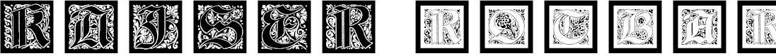 Preview image for KaiserRotbartOneCaps Font