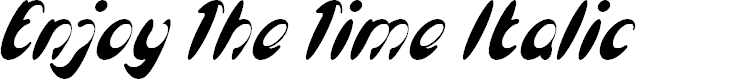 Preview image for Enjoy The Time Italic