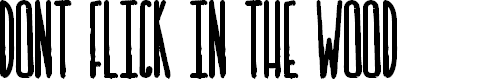 Preview image for DONT FLICK IN THE WOOD Font