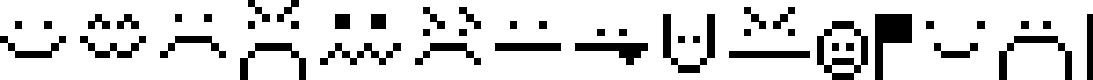 Preview image for Retromoticons Font