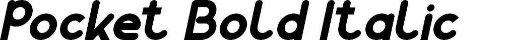 Preview image for Pocket Bold Italic