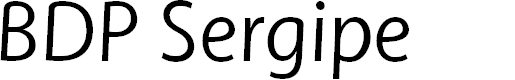 Preview image for BDP Sergipe Font