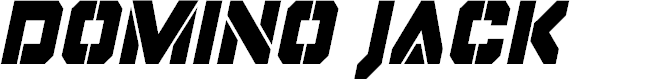 Preview image for Domino Jack Condensed Italic Condensed Italic