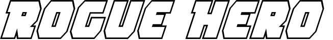 Preview image for Rogue Hero Outline Italic