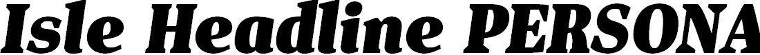 Preview image for Isle Headline PERSONAL USE Black Italic