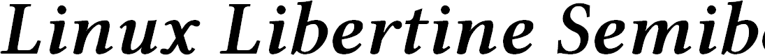 Preview image for Linux Libertine Semibold Italic