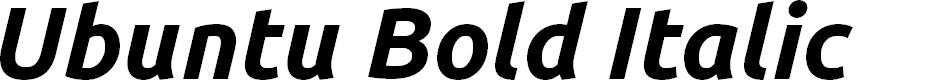 Preview image for Ubuntu Bold Italic