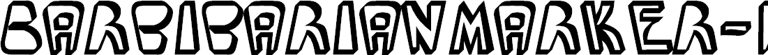 Preview image for BarbibarianMarker-Regular Font