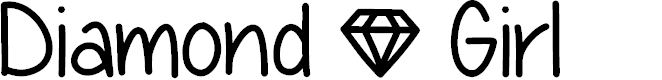 Preview image for Diamond Girl Font