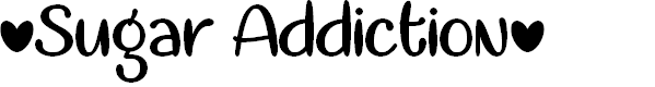 Preview image for Sugar Addiction Regular Font