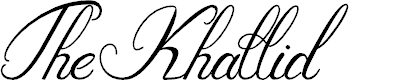 Preview image for The_Khallid Font