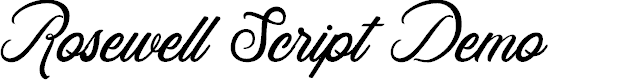 Preview image for Rosewell Script Demo Font