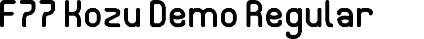 Preview image for F77 Kozu Demo Regular Font