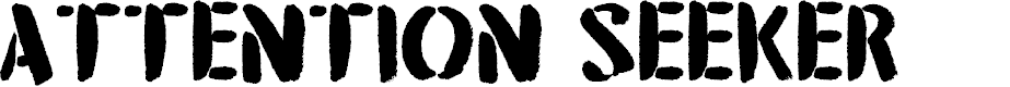 Preview image for DK Attention Seeker Regular Font