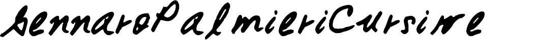 Preview image for GennaroPalmieriCursive Font