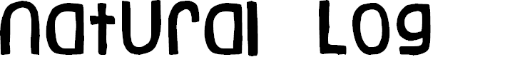 Preview image for Natural Log Font