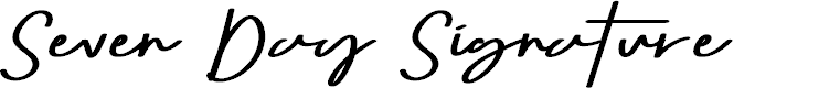 Preview image for Seven Day Signature Font