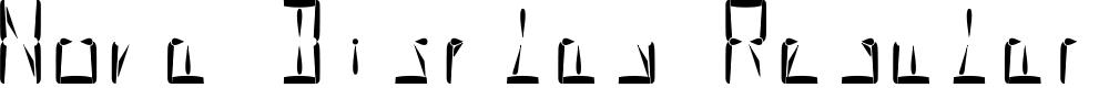 Preview image for Nova Display Regular Font