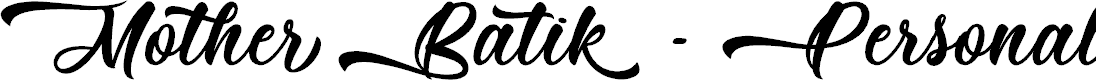 Preview image for Mother Batik - Personal Use Font