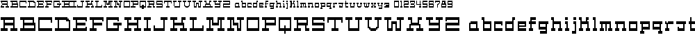 Preview image for Cask12bit Font