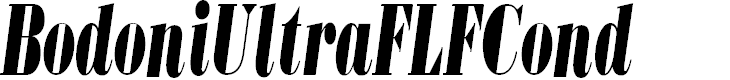 Preview image for BodoniUltraFLFCond-Italic