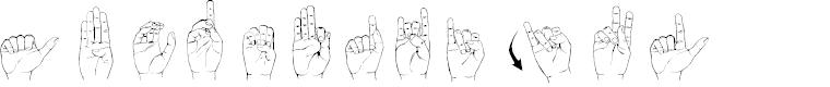 Preview image for Langage des signes Font