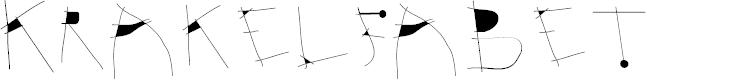 Preview image for Krakelfabet Font