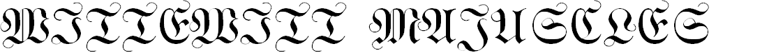 Preview image for WittewittMajuscles-Flourish Font