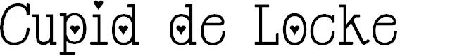 Preview image for Cupid de Locke Font